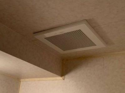 浴室換気扇交換工事 三菱 VD-15ZFLC12-S 東京都杉並区